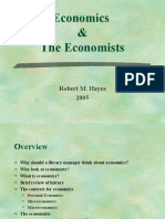 Economics and Economists