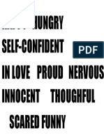 Adjectives Feelings