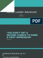 Market Leader Adv - Unit 1 - Word List