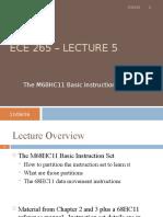 Lecture 5 - Basic Instruction Set