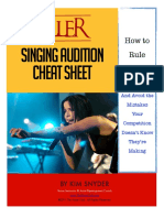 Killer Audition Cheat Sheet