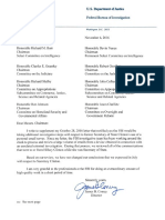 2016-11-06 Comey Letter to Congress Reiterating FBI Won't Pursue Charges in Clinton Email Case