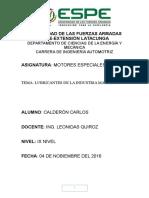 Calderón Sanchez Carlos Fernando, Lubricantes de La Industria Marítima, 3543