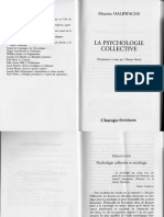 Halbwachs Psychologie Collective
