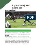 12 FIFA 16 Los 3 Mejores Regates Para Ser Imparable