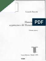 06066016 Benevolo 1972 Historia de La Arquitectura Del Renacimiento Cap i y III