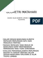 Geometri Matahari Versi 2013