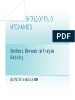 Similitude, Dimensional Analysis Modeling