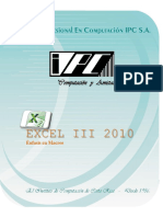 Folleto Excel III 2010 Digital