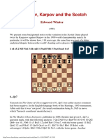 [Edward Winter] Kasparov, Karpov and the Scotch