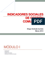 Indicadores Sociales de Gestión Comunitaria