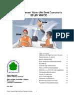 Water Ski Operators Study Guide
