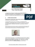7 Principios Vitales Para Tomar Decisiones