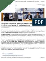 La ULPGC y FREMAP firman un convenio para la integración en el mercado laboral de los trabajadores | ULPGC - Universidad de Las Palmas de Gran Canaria