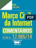 Marco Civil da Internet - Comentários à Lei 12.965 2014 -JESUS, Damásio de e MILAGRE, José Antônio -  2014 - 97pg - LIVRO