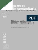 Objetivos Nutricionales SENC 2011