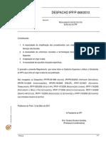Despacho IPP-P-068-2010 - Regulamento Dos Estatutos Especiais Do IPP