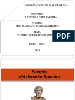 Fuentes Del Derecho Romano - Diapositiva