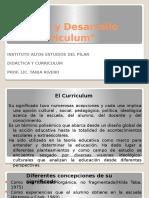 Teoría y Desarrollo Del Curriculum
