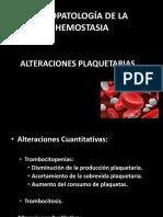 Alteraciones Plaquetarias