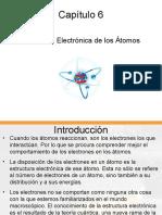 Cap. 6. Estructura Electrónica Átomos. Química I. UTN