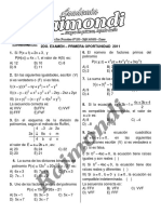 2do Examen - Primera Oportunidad Cepru - 2011