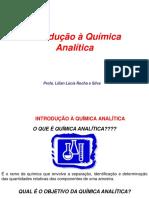 Aula 1 Introdução à Química Analítica 2011