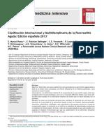 Clasificación Internacional y Multidisciplinaria de La Pancreatitis Aguda Edición Española 2013