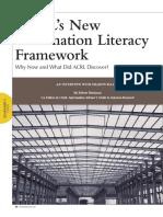 ACRL's New Information Literacy Framework