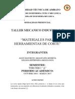 01. Hss, Metal Duro, Ceramicos