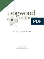 Dogwood Holiday Dinner Buffet Menu 1