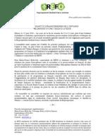 Communiqué de presse - La 2e Assemblée générale annuelle du Regroupement Étudiant Franco-Ontarien (RÉFO)