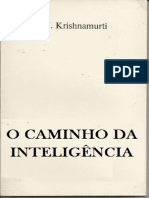 O Caminho Da Inteligencia - Krishnamurti
