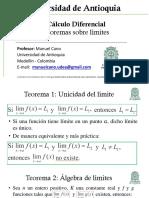 Teoremas Sobre Límites