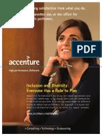 Inclusion & Diversity Flyer - Accenture