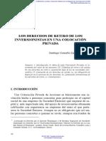 Los Derechos de Retiro de Los Inversionistas en Una Colocación Privada - Santiago González Luna Marseille