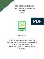 Plantas Para Transformacion de Bioinsumos
