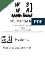 Mental Math (1)