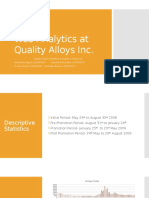 Web Analytics at Quality Alloys Inc