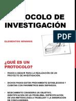 CLASE 04 - PROTOCOLO DE INVESTIGACIÓN