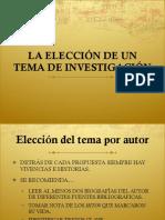 CLASE 05 - ELECCIÓN DEL TEMA