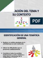 CLASE 06 - DELIMITACIÓN DEL TEMA Y SU CONTEXTO