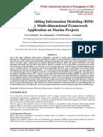 Integrated Building Information Modeling (BIM) System for Multi-dimensional Framework Application on Marine Projects
