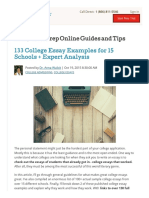 133 College Essay Examples for 15 Schools + Expert Analysis