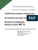 CBC System Formwork Instalation NC II Ttsat