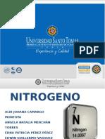 Nitrogeno en la atmósfera