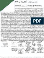 Lawiy Z El Signed Declaration of Independence