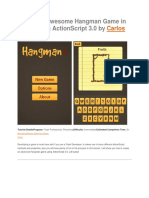 Create an Awesome Hangman Game in Flash Using ActionScript 3