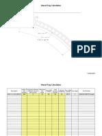 Vessel Tray Calculation