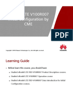 OEB305800 ENodeB LTE V100R007 Initial Configuration by CME ISSUE 1.00
